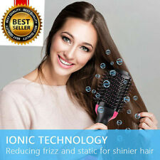 2In1 One Step Hair Dryer and Volumizer Brush Comb Straightening Curling Iron US