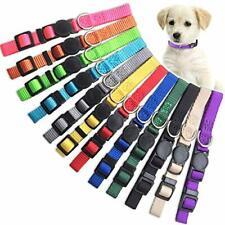 Puppy Id Collar Identification Soft Nylon Adjustable Breakaway Safety 12 Pack