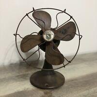 "Antique Vintage Graybar Cast Iron Base Electric 8"" Fan  ~ FOR PARTS / REPAIR"