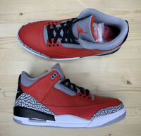 Air Jordan 3 III Retro SE Red Black Cement Sneakers CK5692-600 Men's Size 10.5