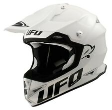 UFO Warrior H1 Base Advanced Helmet- Motocross Enduro- Solid White/ Adult XL
