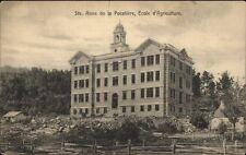 Ste. Anne de la Pocatiere Quebec Ecole Agriculture c1910 Postcard