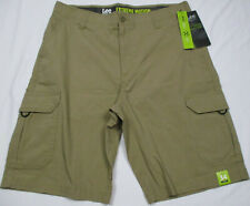 "LEE Men's Extreme Motion Cargo Short Nomad New 34 x 11"" Inseam Cell Phone Pocket"