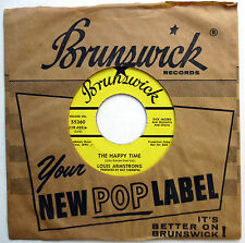 LOUIS ARMSTRONG 45 The Happy Time / Willkommen PROMO Pop BRUNSWICK 1968 w4274