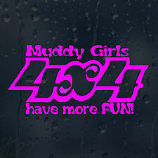Funny Muddy Girls 4x4 Have More Fun Car Decal Vinyl Sticker For Window Bumper