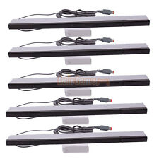 5pcs Wired Infrared Sensor Bar for Nintendo Wii Controller Black with Silver