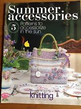 """""""Knitting"""" Magazine Summer Accessories Supplement From Issue 79 August 2010"""