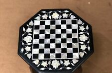 18'' Marble kids children game Chess table Top Inlay Stone j1