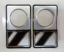 Vintage 80's 90's Automotive Door Lock Scratch Guard Accent Trim BLACK STRIPE