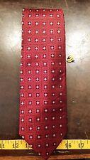 Enro Red Blue Square Dot Silk Designer Mens Necktie Free Shipping