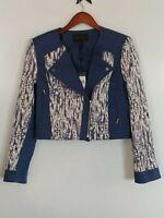 NWT BCBG Maxazria Cody Woven Moto Style Jacket Size Medium