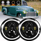 Pair 7 Inch Led Headlight Round Hilo Sealed Beam For Chevy Pickup Truck 3100