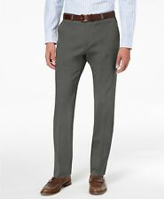 $235 Tommy Hilfiger Men'S Gray Slim Fit Chino Casual Dress Pants Size 30w 30l