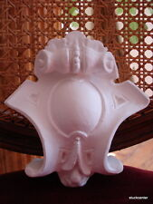 stuc - Petite Baroque - Cartouche - boucle, pierre centrale en plâtre