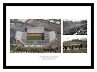 Manchester United Old Trafford Stadium Past & Present Photo Memorabilia (PP18)