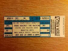 Beastie Boys and Rage Against The Machine ticket from New World Music Theater