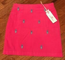 NWT Girls VINEYARD VINES Pink Pineapple Embroidered Corduroy Skirt, Sz 12, $55