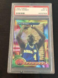 🔥 1993-94 Finest: #212 Chris Webber PSA 9 MINT Rookie Card Hall Of Fame