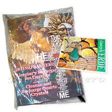 CUARZO VERDE Cristal Natural Pendiente/Dije-INSTRUCTIONES Salud Dinero Amuleto