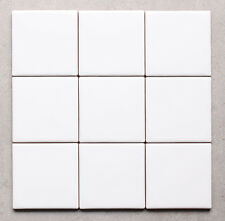 CLEARANCE Gloss White Square Kitchen / Bathroom Wall Tiles 10 x 10