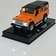 "Land Rover Defender Model Cars 5.3"" Sound&light Gifts Alloy Diecast New Orange"