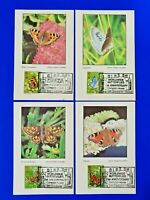 Set of 4 First Day Issue 1981 Havering Commemorative Cards, British Butterflies