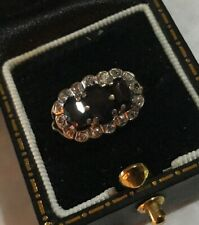 Women's Vintage Gold Ring Sapphire & Diamonds Size M Weight 2.1g Stamped