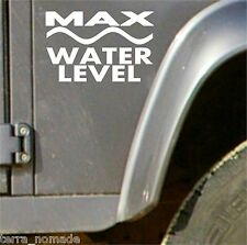 Land Rover Defender Discovery 4x4 Stickers, Water Level Decal, Vinyl, Funny