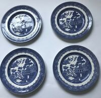 Johnson Brothers Set Of 4 Plates China Willow Blue Made In England