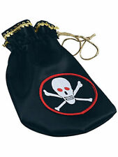 Pirate Coin Pouch Skull & Crossbones Fancy Dress Pirates Of The Caribbean
