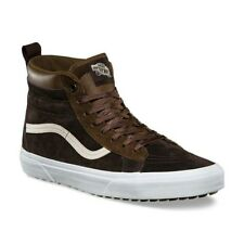 NEW VANS SK8-HI MTE SUEDE Dark Earth/Seal Brown Trainers Shoes Size UK 3 EU 36