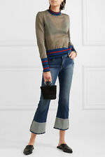 Frame Denim Le Crop Mini Boot Reverse Cuff Blue jeans- Clifton Size 30 $250 New