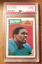 1987 Topps - Roy Foster #241 - PSA 10 Miami Dolphins POP 3