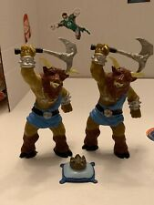 Vintage 1983 LJN Advanced Dungeons Dragons PVC Minotaur Lot & Treasure Complete