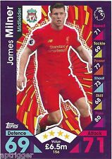 2016 / 2017 EPL Match Attax Base Card (156) James MILNER Liverpool