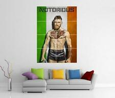 CONOR MCGREGOR THE NOTORIOUS IRISH FLAG UFC GIANT WALL PHOTO PIC PRINT POSTER
