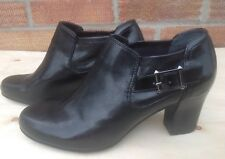 FRANCO SARTO Black Patent leather ankle shoes boots Size 5