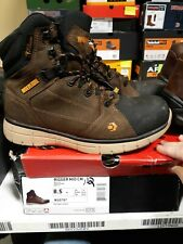 Men's Wolverine Rigger Mid Composite Toe Wp Boots 8.5 M Free Shipping #112