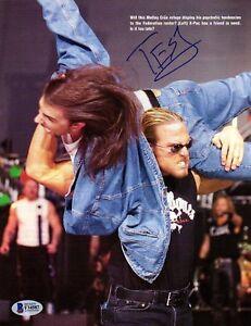 """BECKETT ANDREW MARTIN """"TEST"""" SIGNED WWF-WWE VINTAGE MAGAZINE PHOTO F34587"""