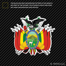 Bolivian Coat of Arms Sticker Decal Self Adhesive Vinyl Bolivia flag BOL BO