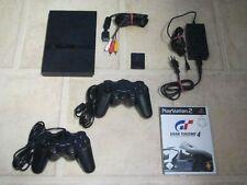 Playstation 2 Slim komplett mit 2 Controller + Spiel Gran Turismo 4