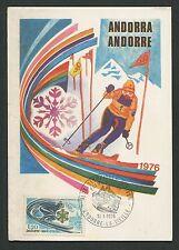 ANDORRA MK 1976 OLYMPIA SKI OLYMPICS SKIING MAXIMUMKARTE MAXIMUM CARD MC c9116