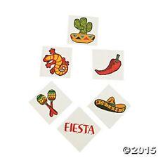 72 Fiesta Mexican Cinco De Mayo Temporary Tattoos Kids Birthday Party Favors