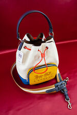 COACH - Jes Drawstring Bucket Bag In Colorblock With Horse And Carriage
