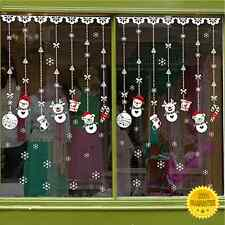 Vetrofanie Natalizie Adesivi Vetro Vetrine Casa Fiocchi di Neve PVC Natale