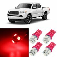 11 x RED Interior LED Lights Package For 2016 2017 2018 2019 2020 Toyota Tacoma