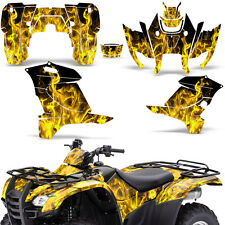 Honda Rancher 420 Graphic Kit ATV Quad Decals Sticker Wrap 2007-2013 ICE YELLOW