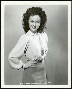 SUSAN HAYWARD in BEAUTIFUL PORTRAIT Original Vintage 1940s COLUMBIA Photo