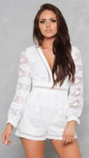 SLIDE SHOW womens melody playsuit BNWT size 8 - 10 white lace romper #312
