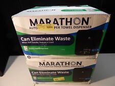 MARATHON automated paper towel dispenser lot of 2 black